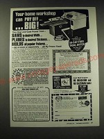 1987 Foley-Belsaw Planer-Molder-Saw Ad - Your home workshop can pay off big!