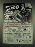1987 Arrow Xpando T-50XP Staple Gun Attachment Ad - revolutionary