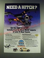 1987 U-Haul Hitches Ad - Need a Hitch?