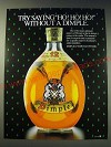 1987 Haig Dimple Scotch Ad - Try saying Ho! Ho! Ho! Without a dimple