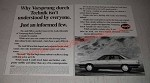 1987 Audi Cars Ad - Why Vorsprung durch Technik isn't understood by everyone.