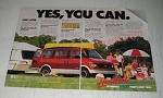 1987 Chevy Astro Van Ad - Yes, you can.