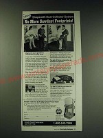 1987 Shopsmith DC3300 Dust Collector Ad - No Sawdust Footprints