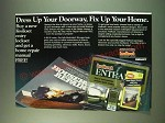 1987 Emhart Kwikset Locksets Ad - Dress up your doorway, fix up your home