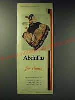 1942 Abdullas Cigarettes Ad - Abdullas for choice