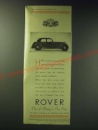 1942 Rover Cars Ad - High quality has always been rightly associated with Rover