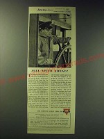 1942 Y.M.C.A. Young Men's Christian Association Ad - Full speed ahead!