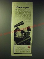 1942 Y.M.C.A. Young Men's Christian Association Ad - It's up to you