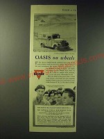 1942 Y.M.C.A. Young Men's Christian Association Ad - Oasis on wheels