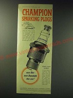 1942 Champion spark Plugs Ad - More dependable than ever