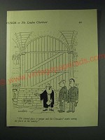 1942 Cartoon by Acanthus (Frank Hoar) - The stained glass is unique
