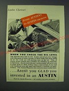 1942 Austin Cars Ad - From Austins to Austin Owners When you check the oil level