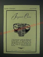 1942 Jaguar Cars Ad - I have owned three Jaguars