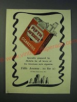 1942 Fifth Avenue Cigarettes Ad - Specially prepared by Abdulla for all lovers