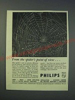 1942 Philips Lamps Ltd Ad - From the spider's point of view…