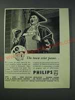 1942 Philips Lamps Ltd Ad - The town crier passes