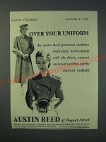 1942 Austin Reed Greatcoat Ad - Over your uniform