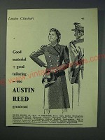 1942 Austin Reed Greatcoat Ad - Good material + good tailoring = one Austin