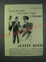 1942 Austin Reed Uniforms Ad - All over the country we are ready to supply