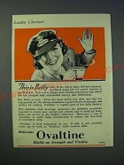 1942 Ovaltine Drink Mix Ad - This is Betty who, at the call of duty
