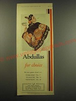 1944 Abdulla Cigarettes Ad - Abdullas for choice