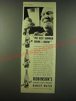 1940 Robinson's Barley Water Ad - The best summer drink I know
