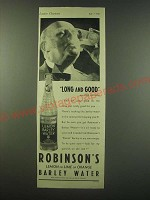 1940 Robinson's Barley Water Ad - Long and Good