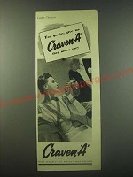 1940 Craven A Cigarettes Ad - For quality, give me Craven A they never vary