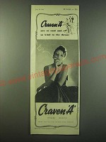 1940 Craven A Cigarettes Ad - Craven A are so cool and so kind to the throat