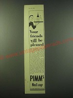 1940 Pimm's No.1 Cup Ad - Your friends will be pleased