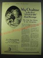 1940 Ovaltine Drink Ad - Why Ovaltine is the best stand-by food beverage