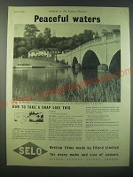 1940 Ilford Selo Film Ad - Peaceful waters
