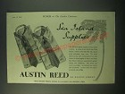 1940 Austin Reed Sea Island shirts Ad - Sea Island Supplies