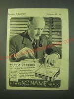 1940 Player's No Name Tobacco Ad - No rule of thumb
