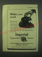 1940 Imperial Typewriter Ad - Within your reach