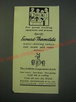 1940 Leonard-Thermostatic Water Valves Ad - For group washing equipment