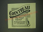 1940 Cointreau Liqueur Ad - The Finest Liqueur indispensable in Cocktails