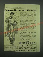1930 Burberry Overcoat Ad - Comfortable in all Weathers