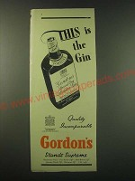 1953 Gordon's Gin Ad - This is the Gin