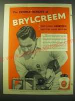 1953 Brylcreem Hairdressing Ad - The double benefit of Brylcreem