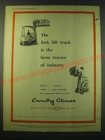 1953 Coventry Fork Lift Truck Ad - The farm tractor of Industry