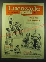 1953 Lucozade Glucose Drink Ad - Replaces Lost Energy