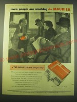 1953 du Maurier cigarettes Ad - more people are smoking du Maurier