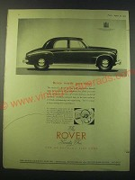 1953 Rover Seventy Five Car Ad - Rover worth goes deep