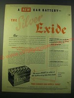 1953 Silver exide Battery Ad - A new Car battery - the Silver Exide