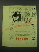 1953 Mazda Lamps Ad - They had the same sort of trouble
