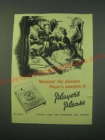 1953 Player's Cigarettes Ad - The pleasure