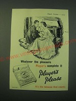 1953 Player's Cigarettes Ad - Listening to Records