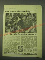 1942 The Salvation Army Ad - You are not there