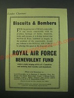 1942 Royal Air Force Benevolent Fund Ad - Biscuits & Bombers